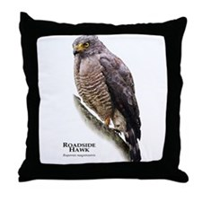 Roadside Hawk Throw Pillow