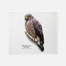 Roadside Hawk Throw Blanket