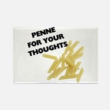 Penne For Your Thoughts Rectangle Magnet