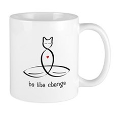 Cat Meditator - Be The Change - Mug
