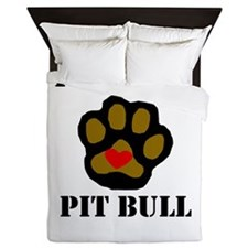 I Love My Pit Bull Queen Duvet