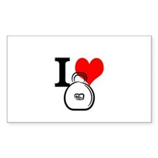 I Heart Kettlebell Decal