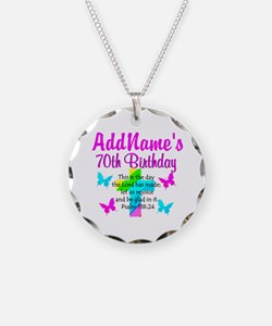 70TH PRAISE GOD Necklace Circle Charm