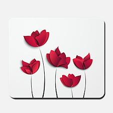 Paper Flowers Mousepad