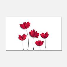 Paper Flowers Car Magnet 20 x 12