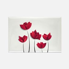 Paper Flowers Rectangle Magnet