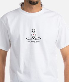 Cat Meditator - Eat Sleep purr - Shirt