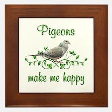 Pigeons Make Me Happy Framed Tile