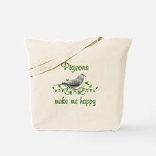 Pigeons Make Me Happy Tote Bag
