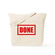 Done! Graduation Tote Bag