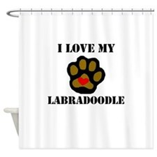 I Love My Labradoodle Shower Curtain