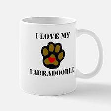 I Love My Labradoodle Mugs