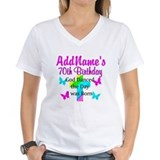 70 birthday Womens V-Neck T-shirts