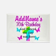 REJOICING 70TH Rectangle Magnet