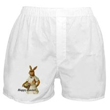 Vintage Rabbit Happy Easter Boxer Shorts