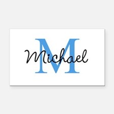 Personalize Iniital, and name Rectangle Car Magnet