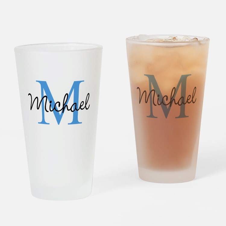 Personalize Iniital, and name Drinking Glass
