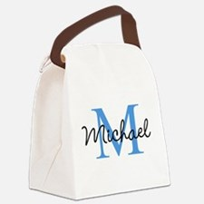 Personalize Iniital, and name Canvas Lunch Bag