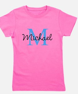 Personalize Iniital, and name Girl's Tee