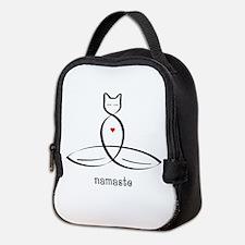 Cat Meditator - Namaste - Neoprene Lunch Bag