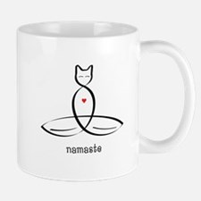 Cat Meditator - Namaste - Small Mugs