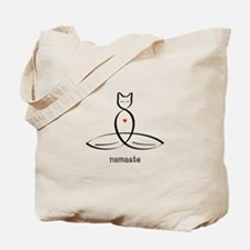 Cat Meditator - Namaste - Tote Bag