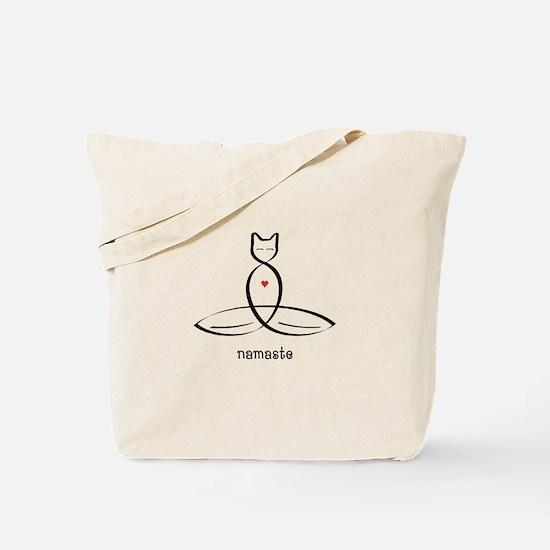 Cat Meditator - Namaste - Tote Bag