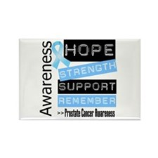 Prostate Cancer Strength Rectangle Magnet