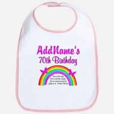 70TH RAINBOW Bib