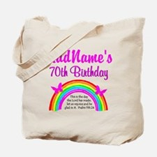 70TH RAINBOW Tote Bag