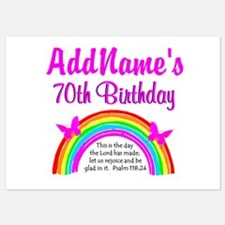 70TH RAINBOW Invitations
