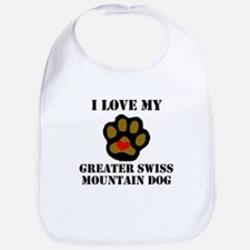 I Love My Greater Swiss Mountain Dog Bib