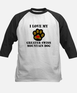 I Love My Greater Swiss Mountain Dog Baseball Jers