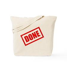 Done Stamp Tote Bag