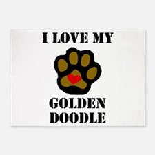 I Love My Goldendoodle 5'x7'Area Rug