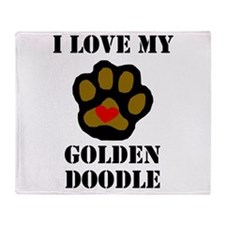 I Love My Goldendoodle Throw Blanket