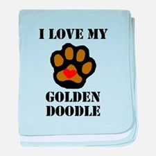 I Love My Goldendoodle baby blanket