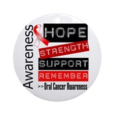 Oral Cancer Strength Ornament (Round)