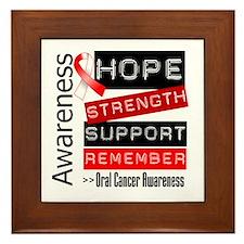 Oral Cancer Strength Framed Tile