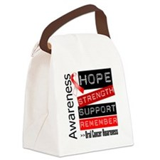 Oral Cancer Strength Canvas Lunch Bag