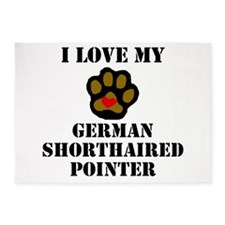 I Love My German Shorthaired Pointer 5'x7'Area Rug