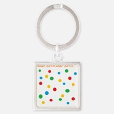 More Dots Square Keychain