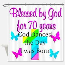 70TH LOVING GOD Shower Curtain