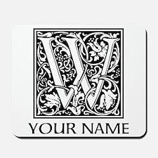 Custom Decorative Letter W Mousepad