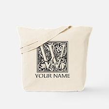 Custom Decorative Letter W Tote Bag