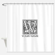 Custom Decorative Letter W Shower Curtain