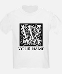 Custom Decorative Letter W T-Shirt