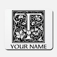Custom Decorative Letter T Mousepad