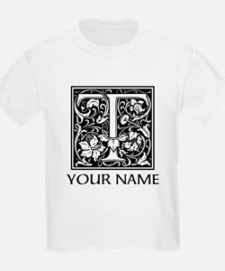 Custom Decorative Letter T T-Shirt