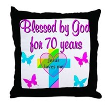 JOYFUL 70TH Throw Pillow
